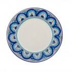 Home Ego • Set Piatti Per Sei Persone • Composto da Diciotto Piatti in Ceramica Siciliana di Caltagirone • Azzurro San Leone